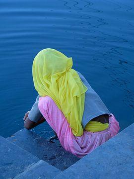 Kleuren van Udaipur, India van Angela Baas Reisfotografie