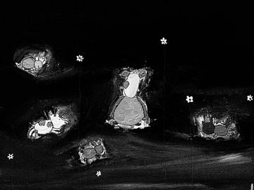 Vrienden in de nacht van Petra de Kroon