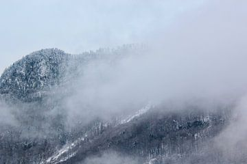 Mist in de winterse bergen. van Ingrid Meuleman