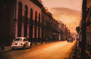 VW Kever in de straten van Puebla