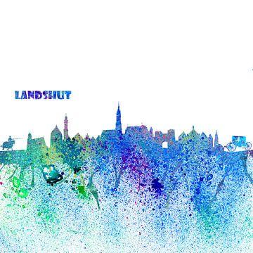 Landshut Skyline Silhouette Impressionistischer Blast sur Markus Bleichner