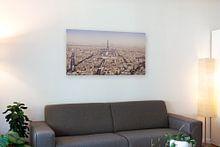Klantfoto: Winterpanorama Parijs van Arja Schrijver Fotografie, op canvas
