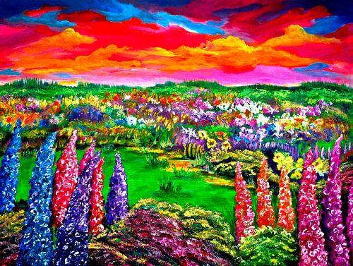 Blühende Landschaft von