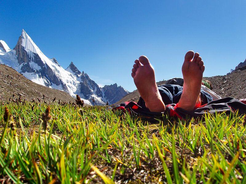 Ruhepause am Laila Peak von Menno Boermans