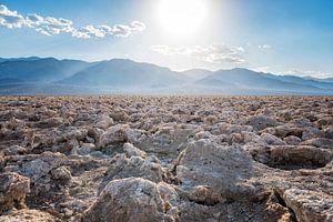Badwater zoutvlakte in Death Valley