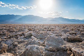 Badwater zoutvlakte in Death Valley van