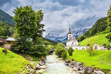 Pfarrkirche Sankt Sebastian in Ramsau im Berchtesgadener Land von Rico Ködder