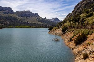 Gorg Blau stuwmeer op het Baleareneiland Mallorca, Spanje