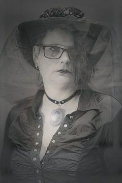 """""""Portret van een gothic dame"""" van Pascal Engelbarts"""