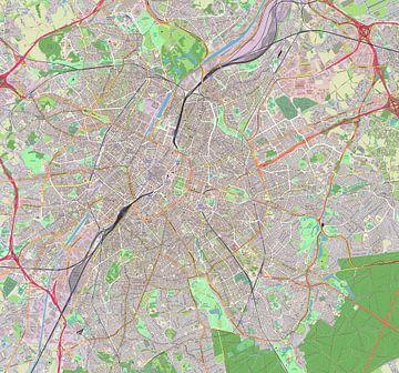 Kaart van Brussel van Atelier Liesjes
