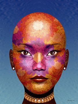 Afrikaans Bloemengezicht van Ton van Hummel (Alias HUVANTO)