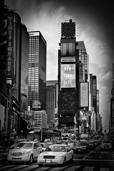 NEW YORK CITY Times Square   Monochroom van Melanie Viola