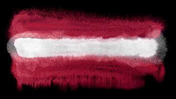 Symbolische Nationalflagge Lettlands von Achim Prill