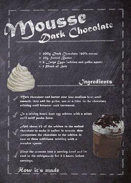 Recipe of Dessert - Chocolate mousse van JayJay Artworks