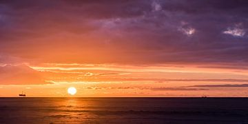 Zonsondergang, Schiermonnikoog van John Verbruggen
