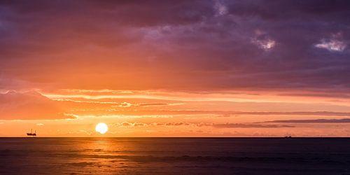 Zonsondergang, Schiermonnikoog