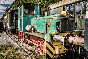 Vergeten en verlaten locomotief