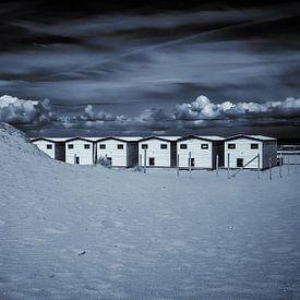 Strandhäuser in schwarz-weiß... von Nico van der Hout