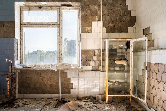 Ziekenhuis in Pripyat - Chernobyl.