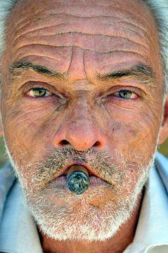Man with Cohiba cigar on Cuba sur