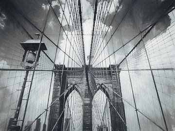 Brooklyn Bridge - Krijttekening van
