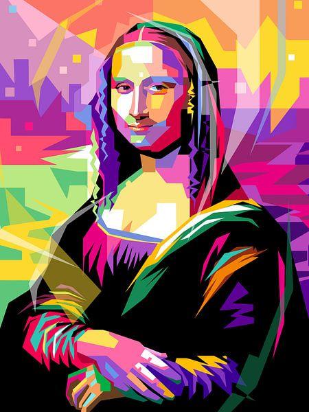 Pop Art Mona Lisa van Jan Willem van Doesburg