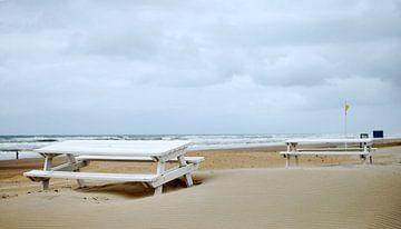 Pastel beach van