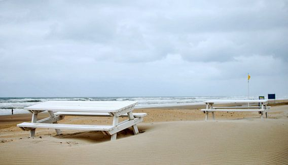 Pastel beach van Mariska de Groot