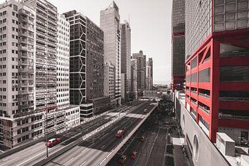 Autobahn Hongkong rot von Govart (Govert van der Heijden)