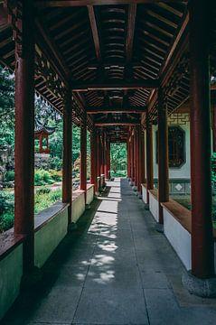 Overkapping in een Chinese tuin van Michel Swijgman