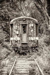 Oude treinwagon van