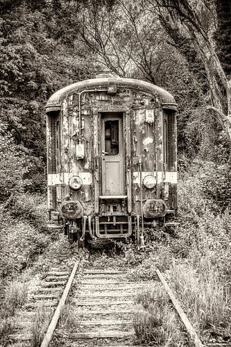 Vieux train sur
