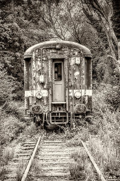 Oude treinwagon van Fotografie Arthur van Leeuwen