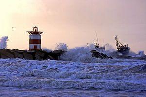 Een stormachtige dag op Scheveningen