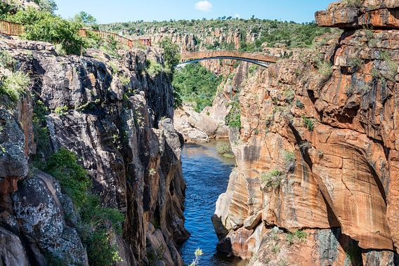 river at the bourkes potholes in south africa