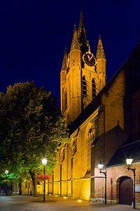 Nachtfoto Oude Kerk Delft