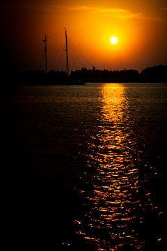 Avond op de Gouwzee van Jan van der Knaap