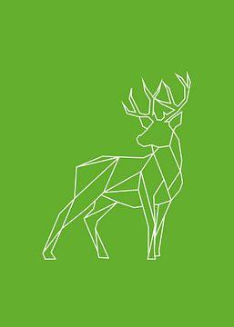 Hert - Grafische dieren van Dieuwertje en Kevin van der Linden - Meijer
