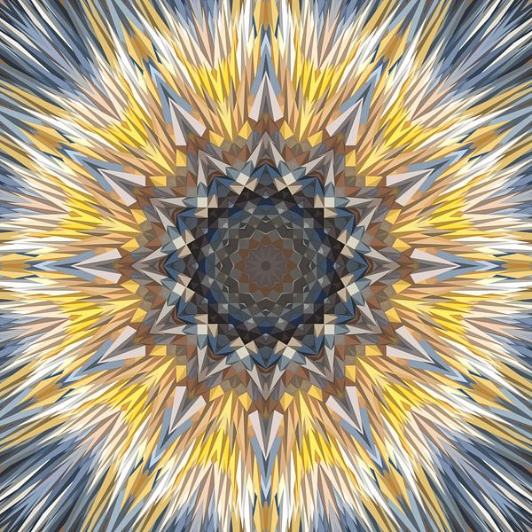 Mandala-stijl 16 van Marion Tenbergen