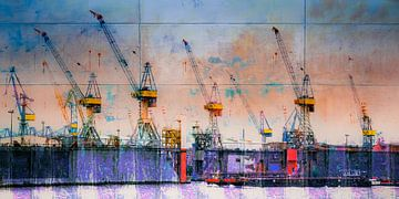 Havenkranen_3 van Manfred Rautenberg Photoart