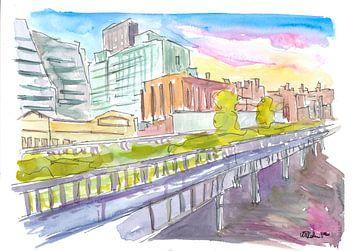Highline Park New York City Spaziergang von Markus Bleichner