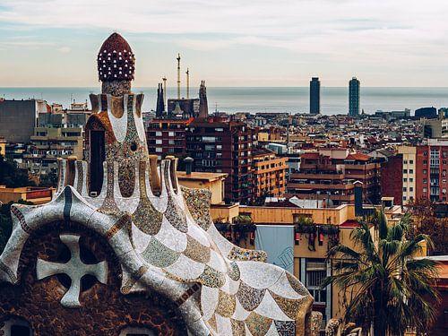 Barcelona Skyline van Alexander Voss