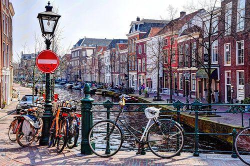 St. Jansbrug Oude Rijn Leiden Nederland