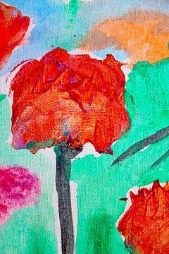 Rose abstrakt von M.A. Ziehr