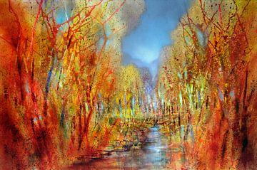 Skoven er allerede farverig van Annette Schmucker