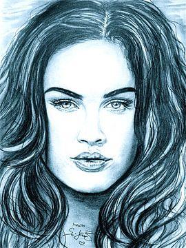 Megan In Ice Blue van Gitta Gläser