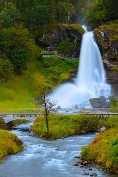 Steinsdalsfossen, Noorwegen van Henk Meijer Photography