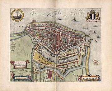 Medemblik, Stadsplattegrond Joan Blaeu 1652 van Atelier Liesjes
