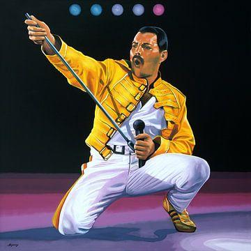 Freddie Mercury Live schilderij van Paul Meijering