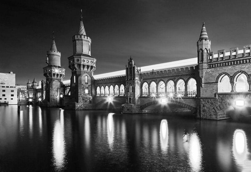 Oberbaum-brug Berlijn van Frank Herrmann